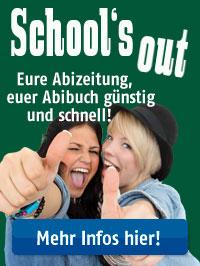 School's out – eure abizeitung, euer Abibuch günstig und schnell