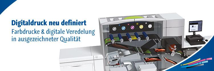Digitaldruck neu definiert. Farbdrucke & digitale Veredelung in ausgezeichneter Qualität